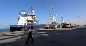 Peace talks were held in a UN-chartered boat anchored in the Red Sea port of Hodeidah, Yemen. File photograph: Abduljabbar Zeyad/Reuters