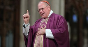 Cardinal Timothy Dolan, Archbishop of New York: New York State  has millions of baptised Catholics, but the faithful are accustomed to tuning out messages from their bishops. Photograph: John Moore/Getty
