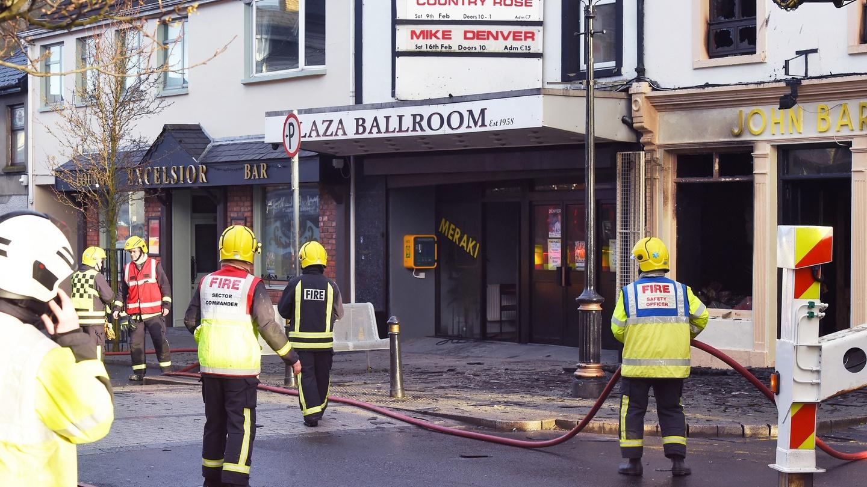 Major fire closes Buncrana's Main Street
