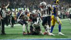New England Patriots cornerback Stephon Gilmore after making an interception during Super Bowl LIII. Photograph: Doug Mills/The New York Times