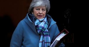 British prime minister Theresa May is expected to explain why she is now seeking an alternative to the backstop that she had previously agreed with the European Union. Photograph: Reuters