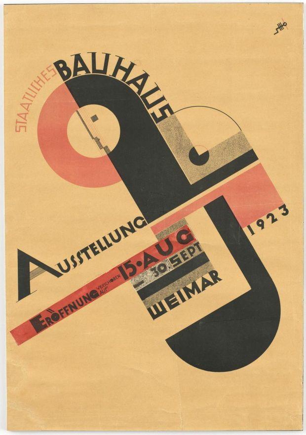 Joost Schmidt's poster for the Bauhaus Exhibition held in Weimar in 1923.