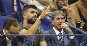 Gerard Pique, who as chief executive of Kosmos recently bought the rights for the future Davis Cup. Photograph: Jean Catuffe/GC Images
