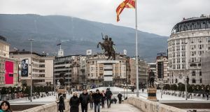 A  statue of Alexander the Great in Skopje, Macedonia: has 28 years of prevarication and chicanery come to an end?  Photograph Akos Stiller/The New York Times