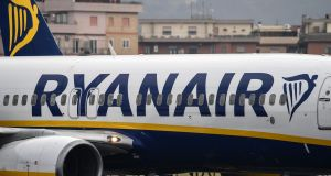 Ryanair said on Monday that revenues had risen 9 per cent to €1.53 billion in the three months ended December 31st. Photograph: Alberto Pizzoli/AFP/Getty Images