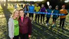 In attendance at the Porterstown Parkrun in Dublin on Saturday to mark World Cancer Day were cancer survivors Mary Egan, left, and Maeve Kelly. Photograph: Ramsey Cardy/Sportsfile