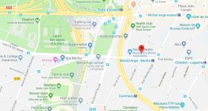 The incident occurred near Roland Garros, site of the French Open tennis and Parc de Princes, home of Paris Saint-Germain soccer team
