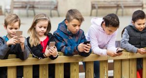Ten per cent of 8-10-year-olds are online for more than four hours per day, according to new research. Photograph: iStock