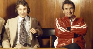 Trevor Francis with Brian Clough after signing for Nottingham Forest for £1.15m in 1979. Photo: Getty Images