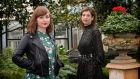 Sasha Hamrogue (left) and Venetia Quick, hosts of the podcast  'Grief Encounters'. Photograph: Dara Mac Dónaill/The Irish Times
