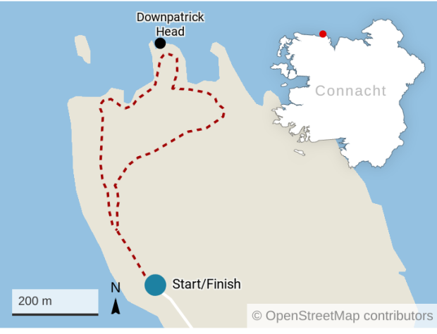 Map Of Ireland Headlands.Wild Atlantic Way Walk Of Unmatched Elemental Beauty