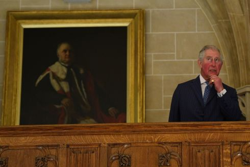 HOLDING COURT: Prince Charles during a visit to the supreme court in Parliament Square, London, to commemorate its 10th anniversary. Photograph: Victoria Jones/PA Wire
