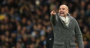 "Pep Guardiola: ""We have to win. Are we going to be the team that lost against Newcastle or the team that won against Arsenal. That's the challenge."" Photograph: Oli Scarff/AFP"