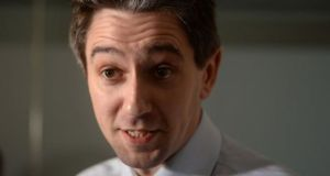Simon Harris: facing questions on  the escalation of costs at the National Children's Hospital. Photograph: Dara Mac Dónaill