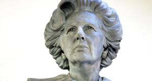 Sculptor Douglas Jennings has made a statue of the late former British prime minister Margaret Thatcher, which is being erected in her home town. Photograph: Douglas Jennings/PA Wire.