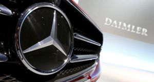 Daimler said the return on sales at Mercedes-Benz cars fell again in the fourth quarter and the company expected that to continue in 2019. Photograph: Michaela Rehle/Reuters