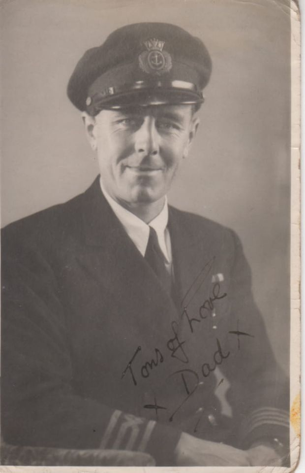 Jonathan Fennell's maternal grandfather, as captain of a British oil tanker, was interviewed by the BBC as the commander of the first ship back from D-Day