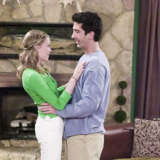 Friends: David Schwimmer with Alexandra Holden as Elizabeth Stevens, Ross's girlfriend in season six. Photograph: NBC via Getty