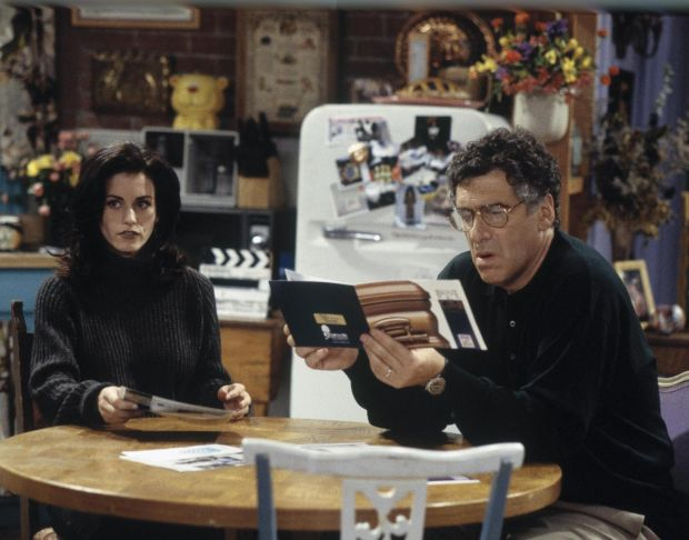 Friends: Courteney Cox with Elliott Gould as her father. Photograph: Joseph Del Valle/NBC via Getty