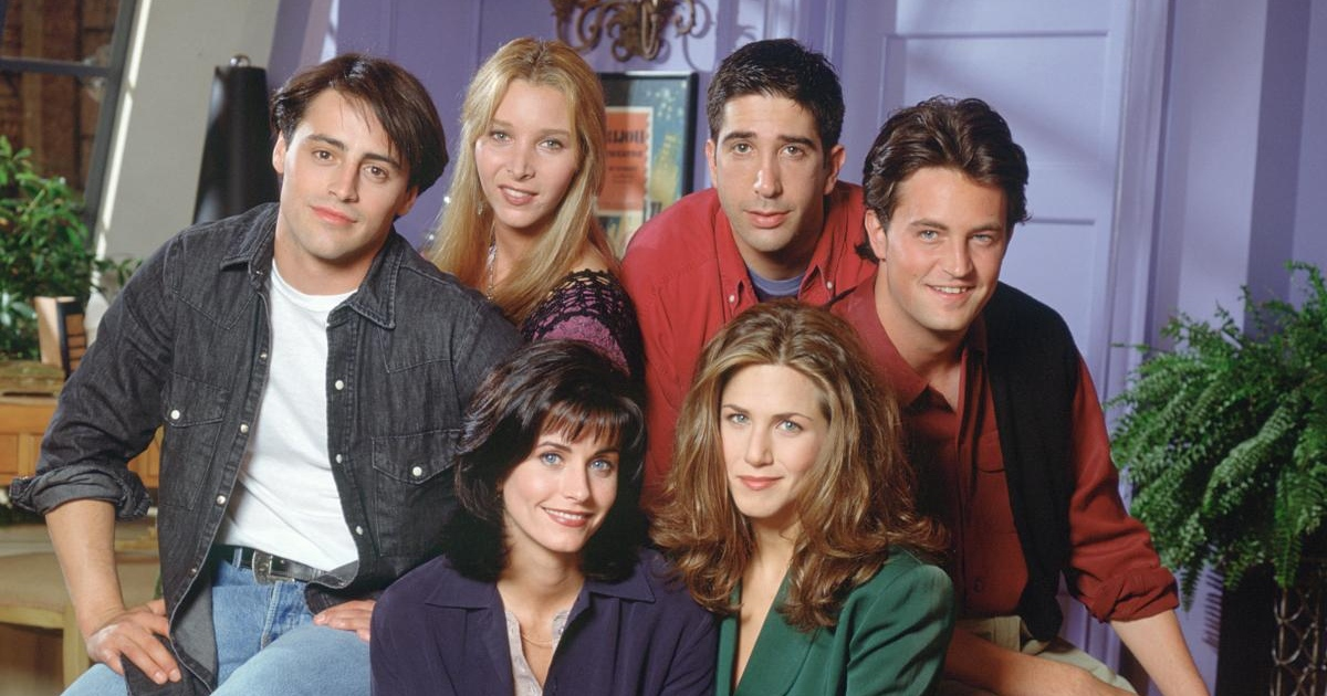 Friends: Matt LeBlanc, Lisa Kudrow, David Schwimmer, Matthew Perry, Courteney Cox and Jennifer Aniston. Photograph: Reisig & Taylor/NBC via Getty