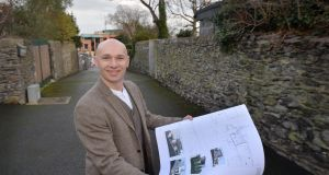 Architect Darragh Lynch in Malahide where he has obtained planning permission for six neighbours, who got together to obtain  permission for mews houses at the end of their gardens. Photograph: Alan Betson / The Irish Times