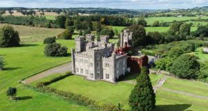 Knockdrin: the 19th-century neo-Gothic house sits on more than 400ha (1,000ac) near Mullingar