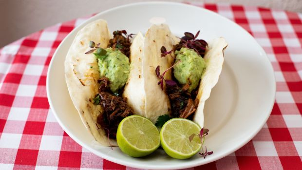 Pork carnitas with pineapple and citrus. Photograph: Tom Honan/The Irish Times.