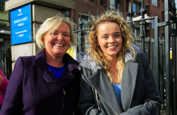 Rebecca Carter (right) pictured with her mother, Annemaire Carter Photograp: Gareth Chaney/Collins