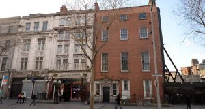 Number 42 Upper O'Connell Street, Dublin, was built in the 'boom times of the 1750s', said TCD's Dr Melanie Hayes. Photograph: Dara Mac Dónaill/The Irish Times