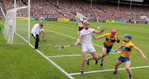 Clare and Galway in the All-Ireland hurling semi-final replay last year. Overall attendances were down 14 per cent on last year. Photograph: Inpho