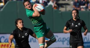 "Audrey O'Flynn in action against New Zealand in San Francisco last summer. ""When I played hockey, all I ever wanted was to play in the Olympics. And my ambition is exactly the same now with the Sevens."" Photograph: Billy Stickland/Inpho"