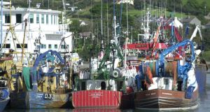 File photograph: Fishing boats tied up at Castletownbere, Co Cork
