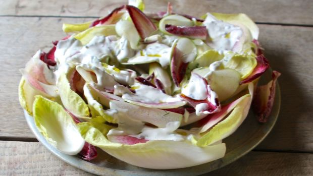 Sweet and sour endive salad.