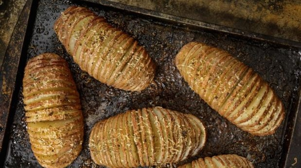 Hasselback potatoes by Jess Murphy