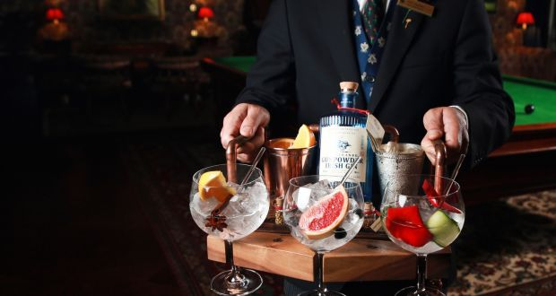 The Ashford Castle Gin Tray Tasting Experience  costs €65 per person