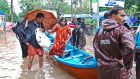 Kerala in India experienced severe flooding in August. Photograph: AFP/Getty Images
