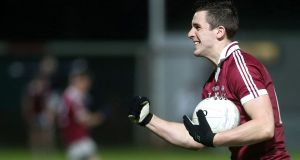 Slaughtneil's Shane McGuigan scored five points for St Mary's in their Sigerson Cup quarter-final win over Maynooth University in Dundalk. Photograph:  Lorcan Doherty/Inpho