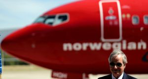 Norwegian Air has revised its growth predictions for the year. Photograph: Marcos Brindicci/File Photo/Reuters