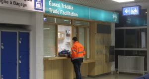 The new trade facilitation counter at Rosslare Europort