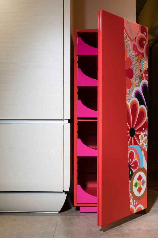 One of a pair of kitchen cabinets by Zelouf&Bell, €35,000. Photograph: Roland Paschhofs