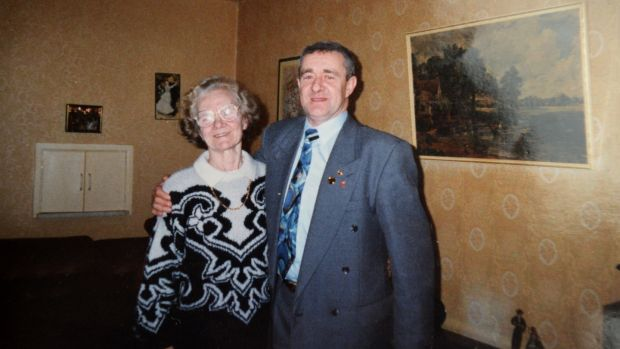 Michael O'Flaherty in a photograph taken when he met his mother, Patricia. Photograph: Dara Mac Donaill / The Irish Times