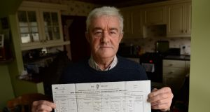 Michael O'Flaherty received   his birth certificate containing his full name, date of birth and mother's name when he joined the army aged 24.     Photograph: Dara Mac Donaill / The Irish Times