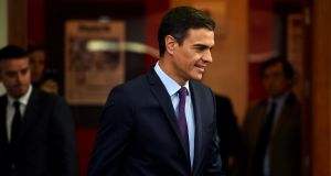 Spanish prime minister Pedro Sánchez's fragile government will need the backing of the two Catalan pro-independence parties in parliament in order to approve the 2019 budget. Photograph: Pierre-Philippe Marcou