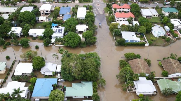 Townsville in North Queensland has been under flood water since last week. Photograph: Dave Acree/EPA