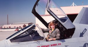 Rosemary Mariner, the commander of a navy tactical electronic warfare squadron, at Naval Air Station Lemoore in California, in 1991. Photograph: The New York Times