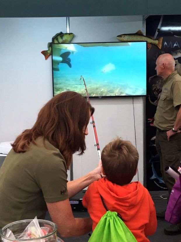 Fishing simulator available free for kids at national angling show