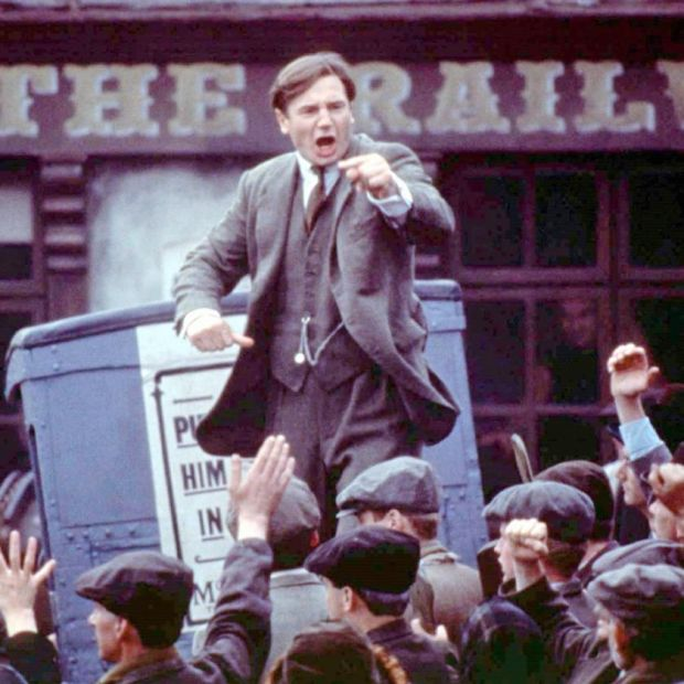 Liam Neeson as Michael Collins in Neil Jordan's film