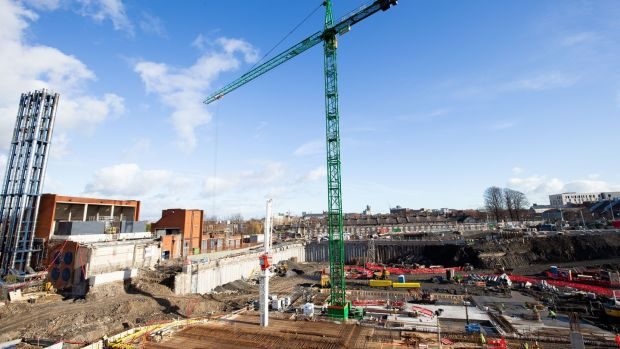 A view of the construction site of the national children's hospital. Photograph: Tom Honan/The Irish Times.