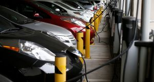 The world's major car makers are ramping up production of electric vehicles. Photograph: Lucy Nicholson/Reuters