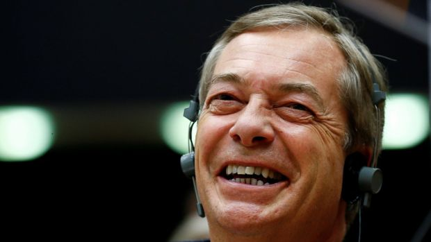 Nigel Farage announced he would stand as a candidate for a new 'Brexit Party' to contest European Parliament elections if Brexit is delayed past March 29th. Photograph: Reuters/Francois Lenoir
